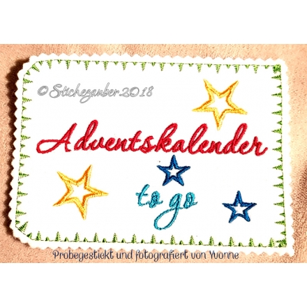 Adventskalender to go 13x18cm