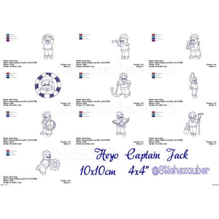 Heyo Captain Jack 10er Set 10x10