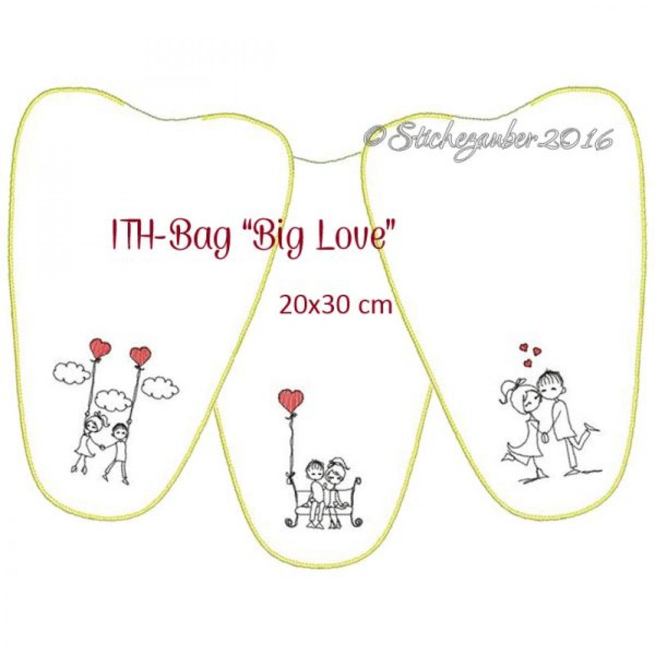 Ith Tasche Big Love 20x30 Cm