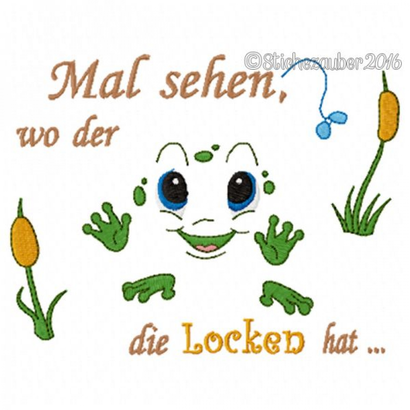 Spruch Wo Der Frosch 13x18cm