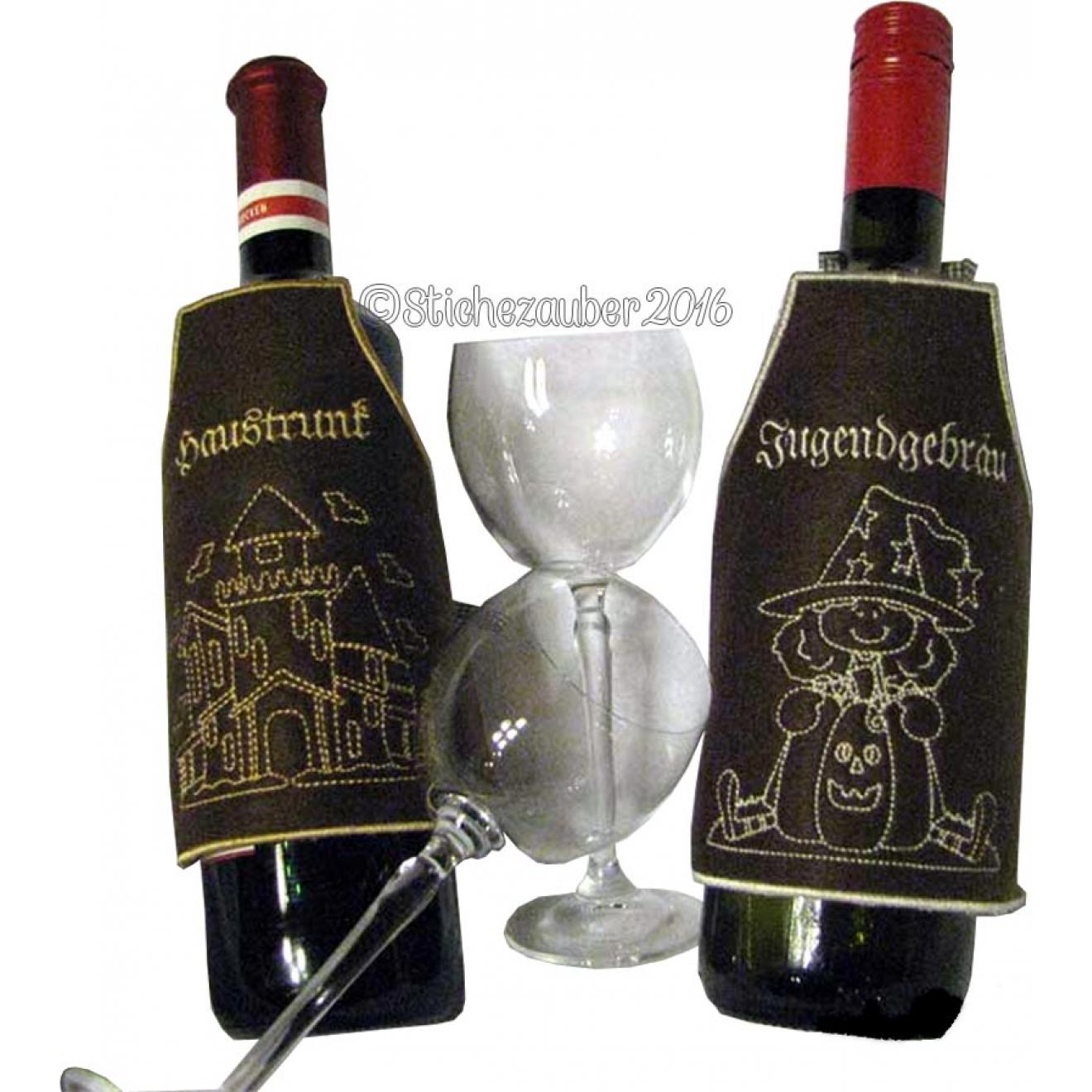 Zaubertränke Flaschenschürzen 6er Set 10x10 und 18x30