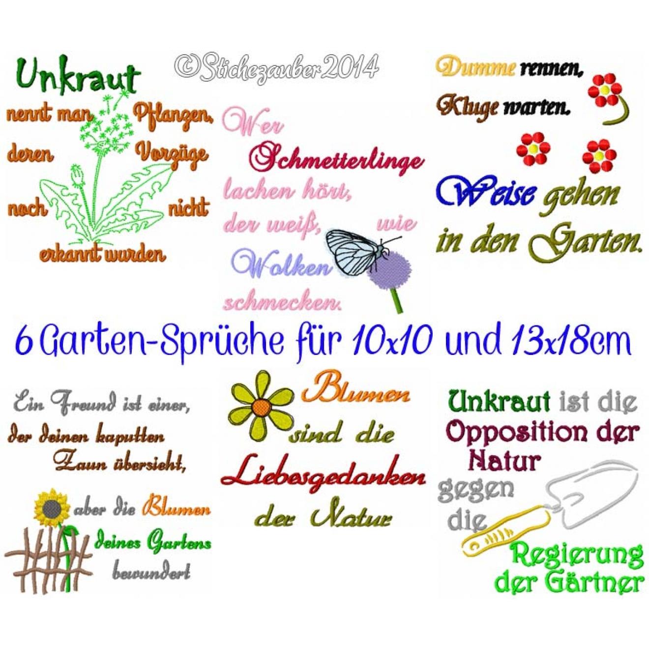 sprüche garten Garten Sprüche 10x10 und 13x18cm sprüche garten