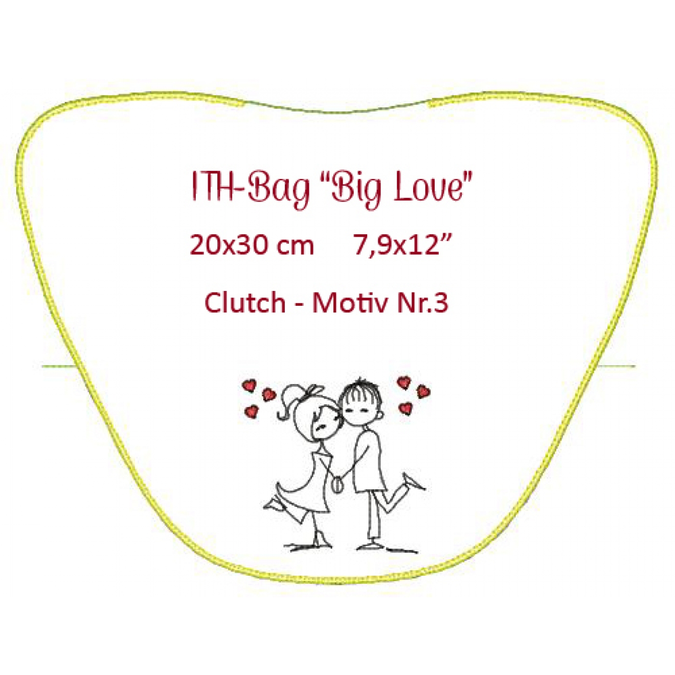 Ith Tasche Big Love Clutch 20x30 Cm